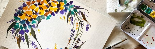 Contemporary Watercolour Workshop - Gathered SA - SATURDAY OCTOBER 26th