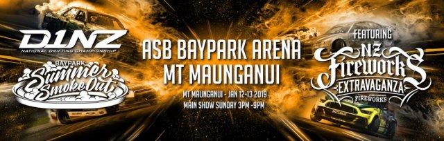 D1NZ Round 1 - ASB Baypark Stadium Tauranga - The Summer Smoke Out