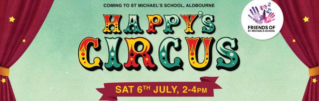 Happy's Circus at St Michael's School, Aldbourne