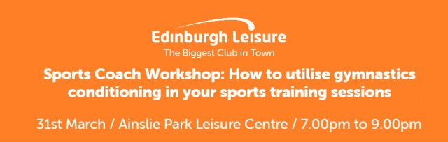 Sports Coach Workshop: How to utilise gymnastics conditioning in your sports training sessions