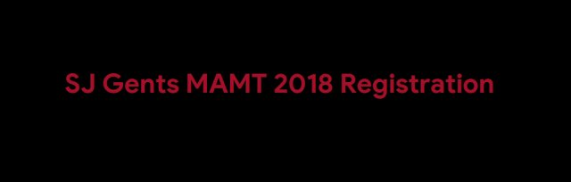 SJ Gents & Boys MAMT 2018