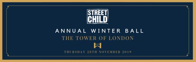 Street Child Annual Winter Ball at the Tower of London