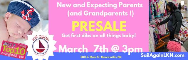 Sail Again's New & Expecting Parents Presale (Grandparents too!)
