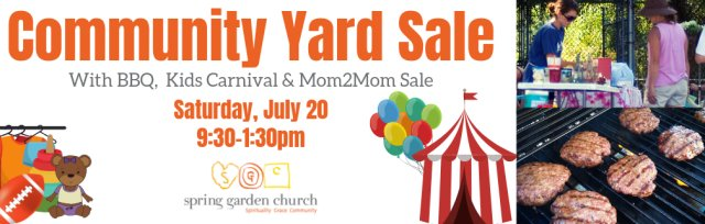Community Yard Sale - Table Booking