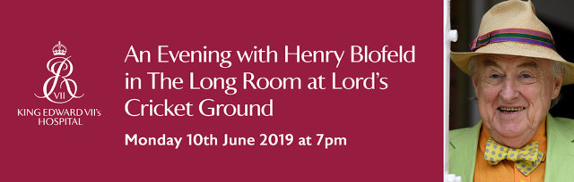 An Evening with Henry Blofeld in The Long Room at Lord's Cricket Ground