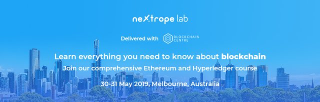 Nextrope Lab Melbourne: Introduction to Blockchain, Ethereum, and HyperLedger