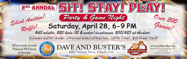 Sit! Stay! Play! Game Night & Fundraiser