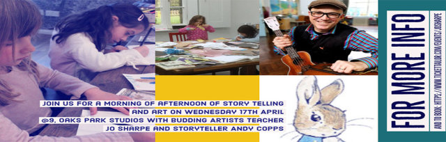 Art in the Park - Kids Art Workshops and story telling Wed 17th April