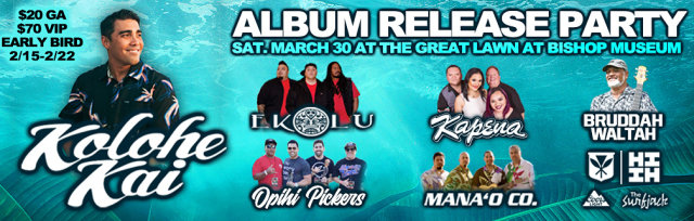 Kolohe Kai Album Release Concert