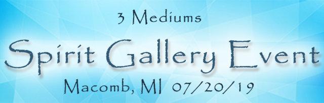 3-Mediums - Macomb Twp Spirit Gallery Event