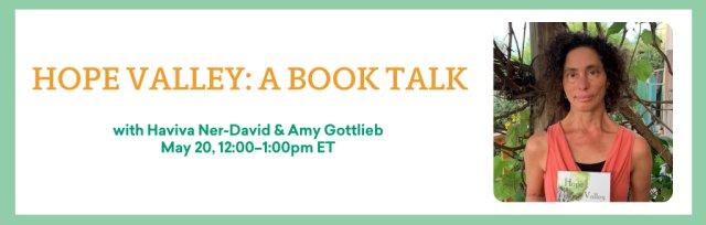 Hope Valley: A Book Talk with Haviva Ner-David & Amy Gottlieb
