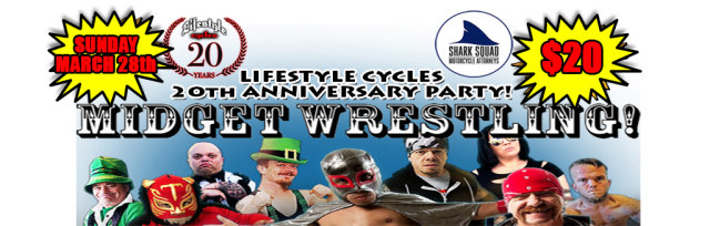 MIDGET WRESTLING AT LIFESTYLE CYCLES
