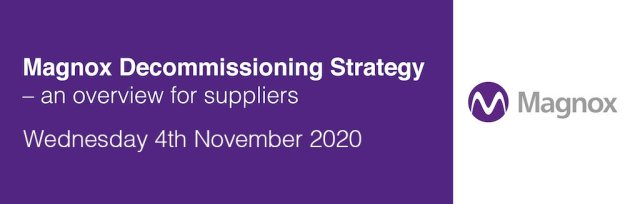 Magnox Decommissioning Strategy – an overview for suppliers