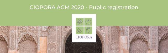 CIOPORA AGM 2020 in Marrakesh (Public)