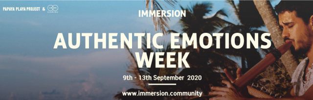 IMMERSION - AUTHENTIC EMOTIONS  WEEK