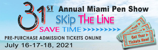 31st Miami Pen Show 2021 Admission