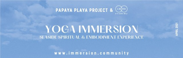 IMMERSION YOGA PROGRAM April 26th - May 2nd