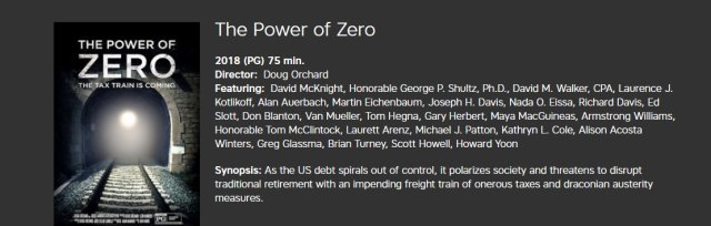Power of Zero, The Tax Train is Coming Documentary