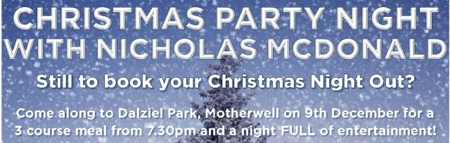 Christmas Party Night with Nicholas McDonald