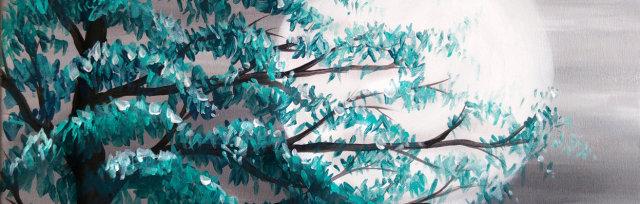 Moonlit Tree Brush Party - Online