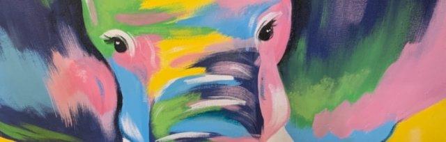 Paint & Sip!Pop Art Elephant at 7pm $39