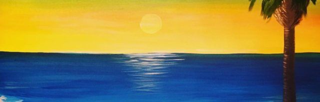 Paint & Sip!Palm beach at 3pm $23 Upland