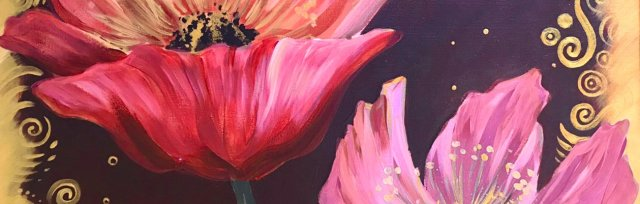 Golden Windflowers Brush Party - Online