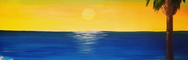 Paint & Sip! Sunset Beach at 2pm $29 UPLAND