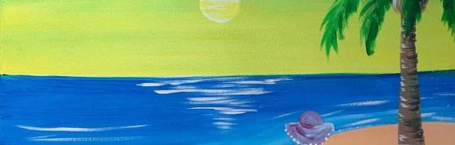 Paint & Sip! Beach Girl at 7pm $29 UPLAND