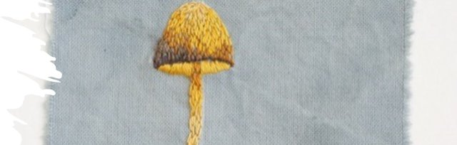 Embroidery Thread Painting - Mushrooms with Jemima Lumley - £74