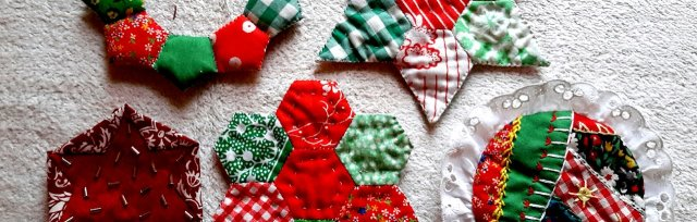 Patchwork Christmas Decorations with Claire Nicol - £40