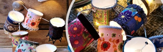 Mini Lampshade Fairy Lights with Sew Vintage - £49