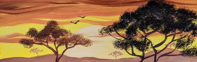 """Let's Paint """"African Savannah"""" - Online"""