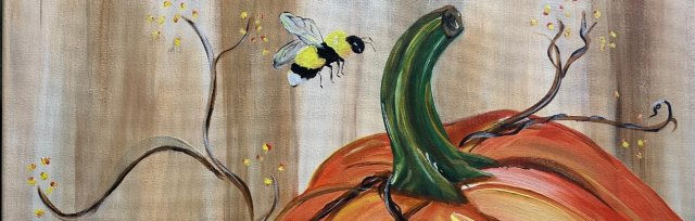 Pumpkin/Bee Canvas Paint & Sip Workshop