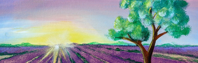 """Let's Paint """"Lavender Field"""" - Online"""