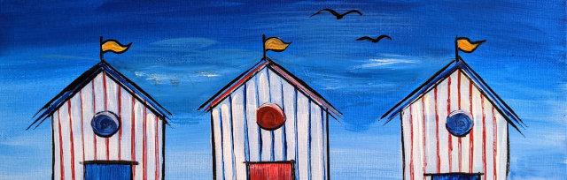 """Let's Paint """"Beach Huts"""""""