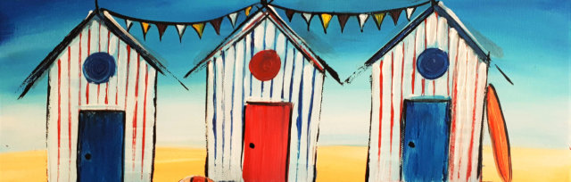 "Let's Paint ""Beach Cabins"""