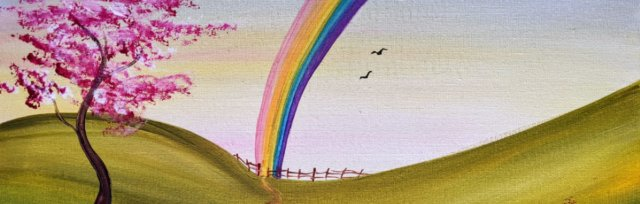 """Let's Paint """"Rainbow in the Meadow"""" - online"""
