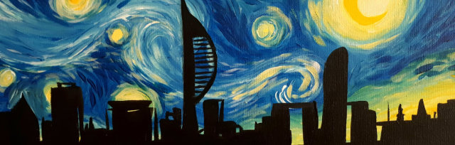 "Let's Paint ""Starry Night Over Portsmouth"""