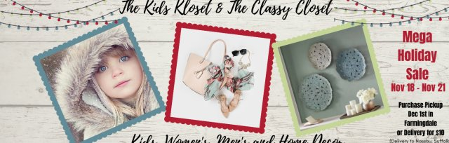 The Kids Kloset and The Classy Closet MEGA Holiday Online Consignment Sale EARLY VIP ACCESS