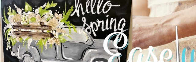 """Sip & Paint """"Spring Truck"""" 16x20 Canvas paint Night at Easely Created"""
