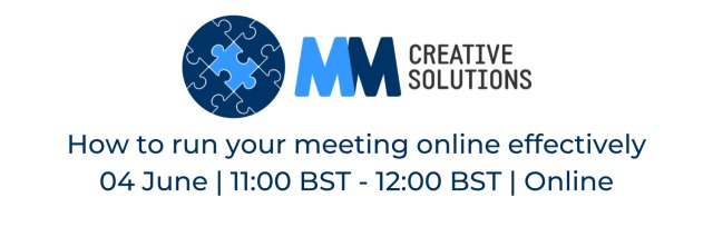 How to run your meeting online effectively (AM Session)