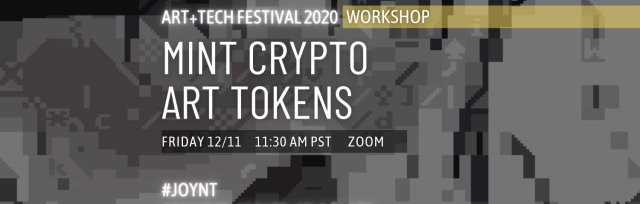 Workshop: Mint Crypto Art Tokens