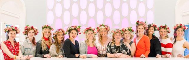 Kendra Scott Flower Crowns + Frosé