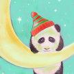 Paint & sip!Holiday Panda at 3pm $35 image