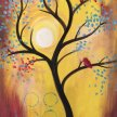 Paint & Sip!Bird in a Tree at 7pm $39 image