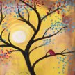 """Paint & Sip """"Bird in a Tree"""" at 11am $25 image"""