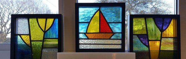 Traditional Stained Glass Leaded Panel with Caroline Lambert - £68