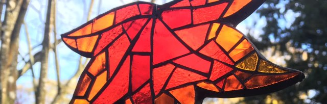 Autumnal Mosaic Leaf Suncatcher with Yvette Green - £68