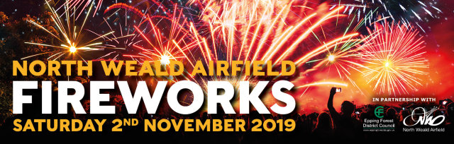 North Weald Fireworks 2019 - Brought to you by Epping & Ongar Round Table